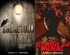Cover images for Smoketown and Redwood and Wildfire