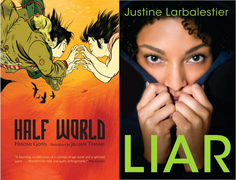 Cover images for Half World and Liar